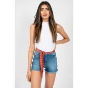 Shorts Jeans Slywear Cinto Lenco