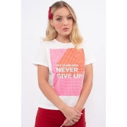 T Shirt Sommer Never Give Up