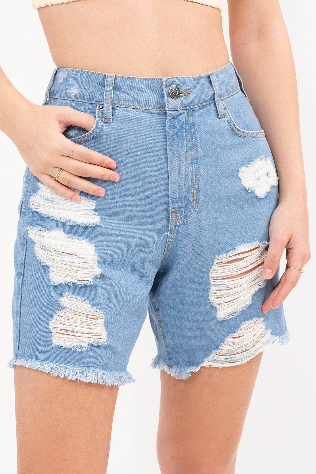 Bermuda Jeans Sommer Boy Destroyed