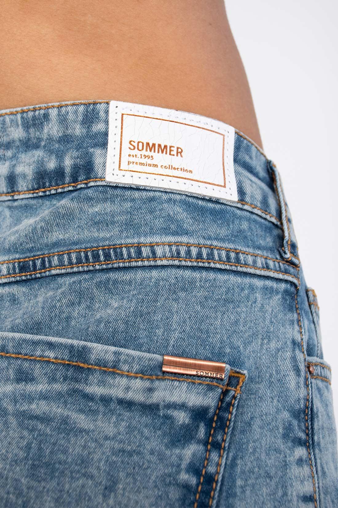 Bermuda  Jeans Sommer Mari Barra A Laser