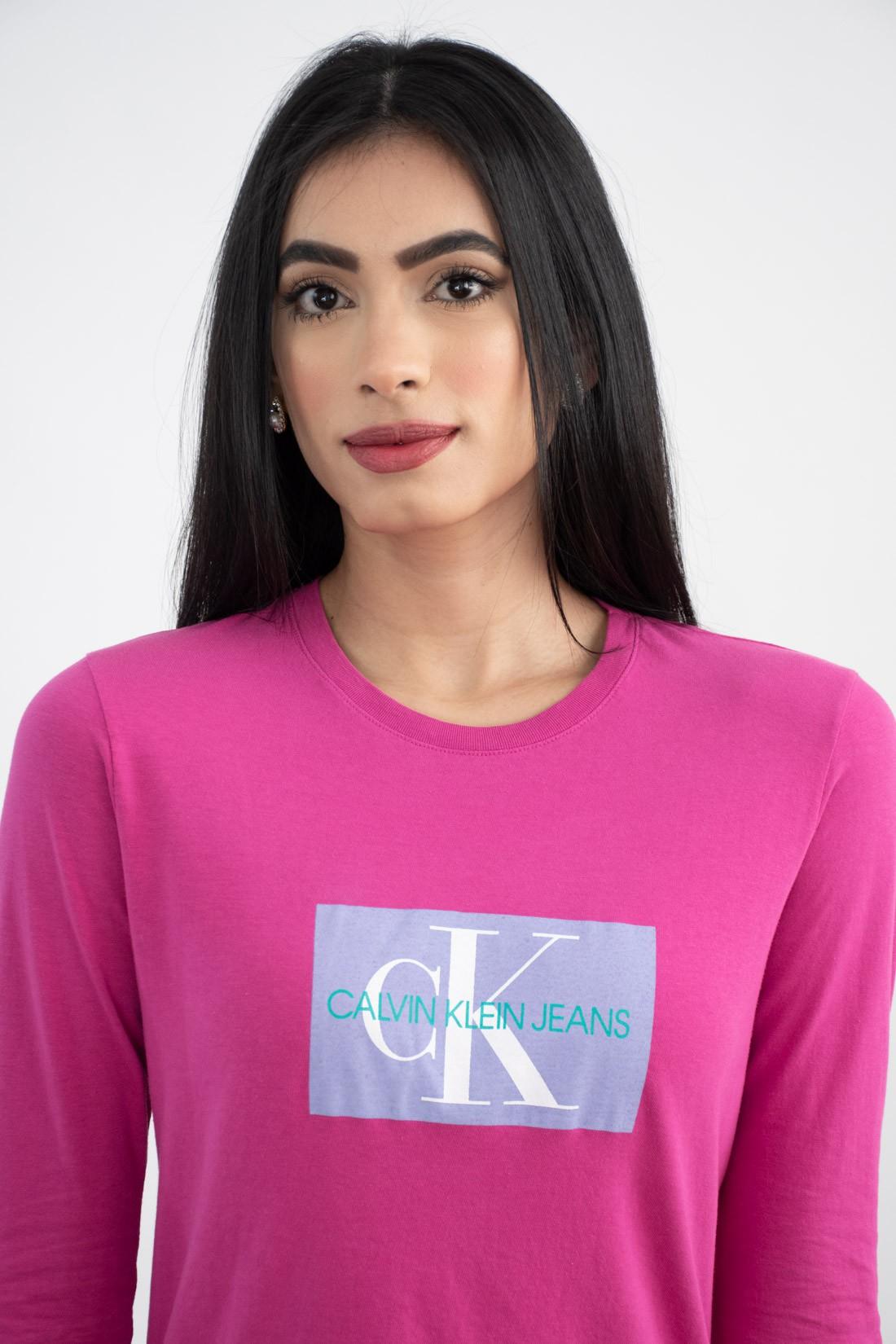 Blusa Ml Calvin Klein Etiqueta Ck