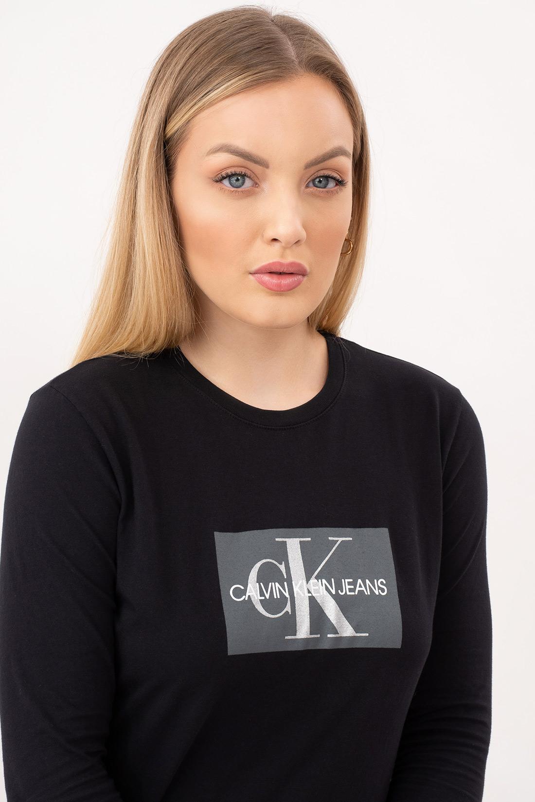 Blusa Ml Calvin Klein Logo Retangulo
