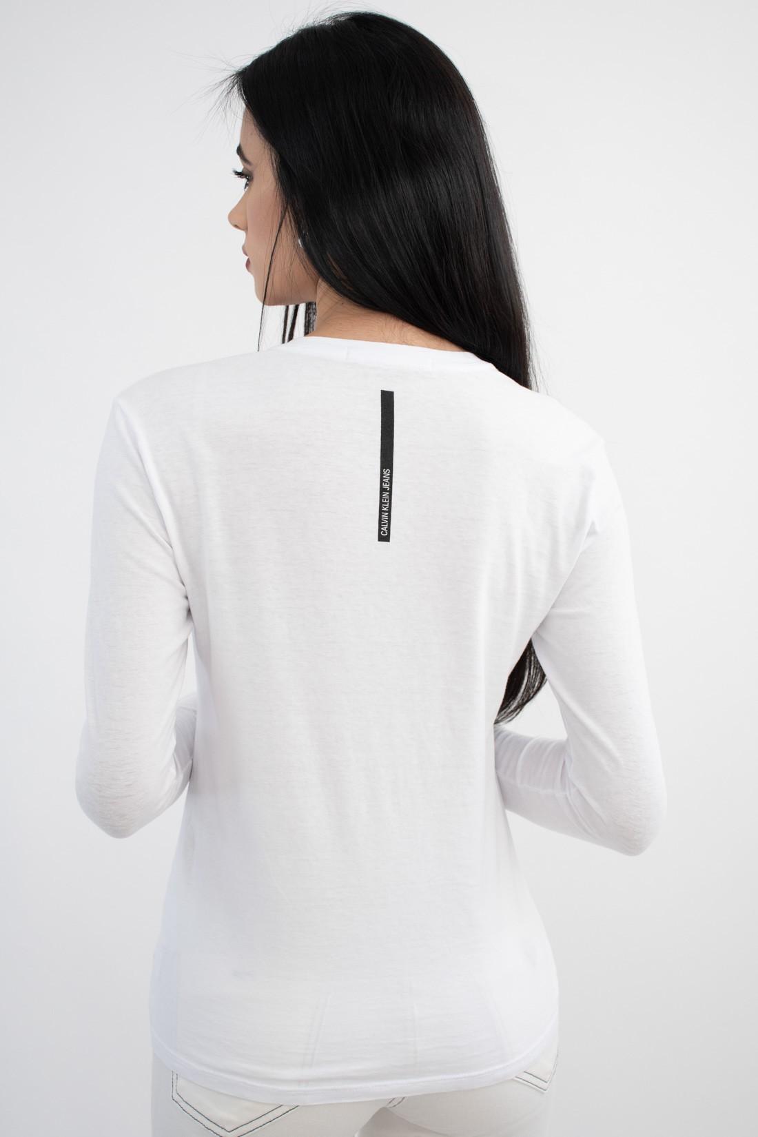Blusa Ml Calvin Klein Mini Logo