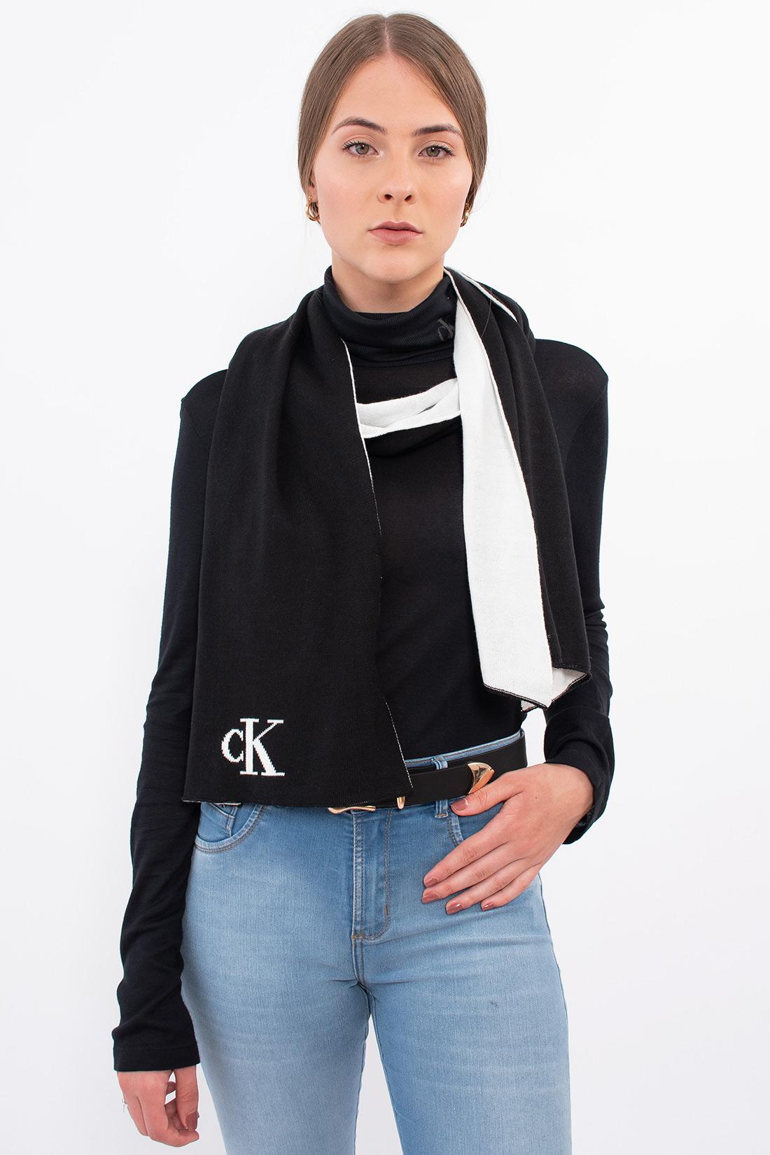 Cachecol Fem Calvin Klein Logo Basico