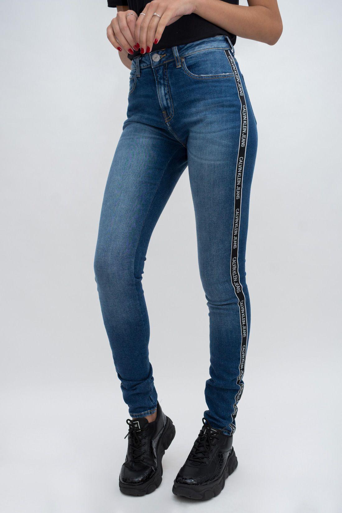 Calca Jeans Calvin Klein Faixa Logo