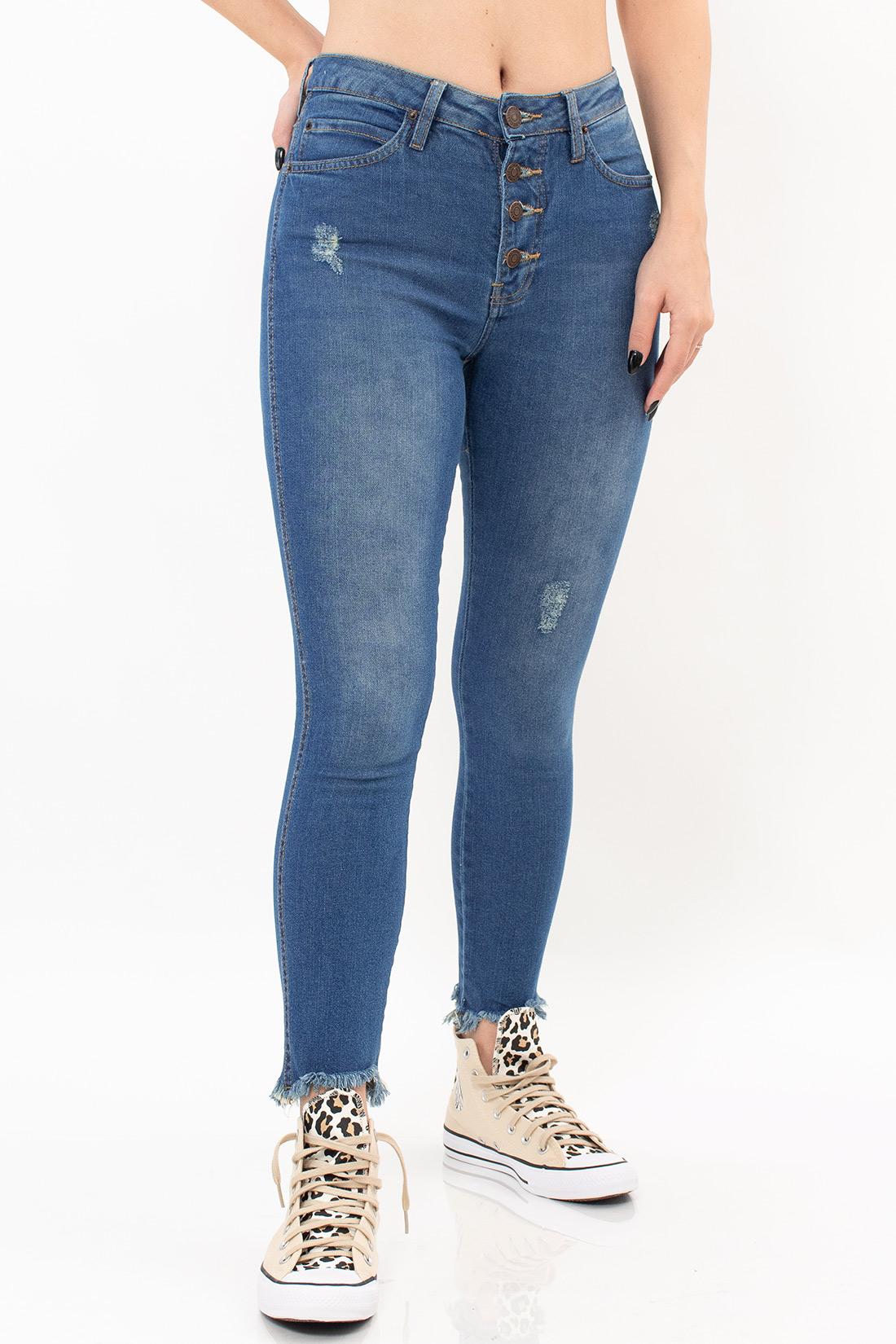 Calca Jeans Calvin Klein High Rise Skinny Botoes