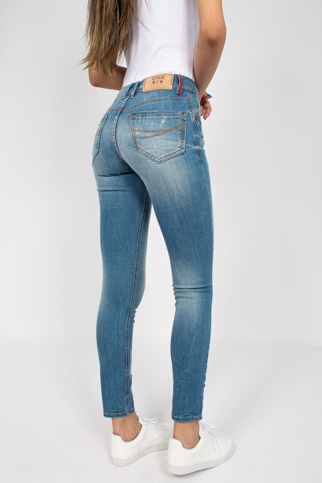 Calca Jeans Coca Cola Mid Skinny