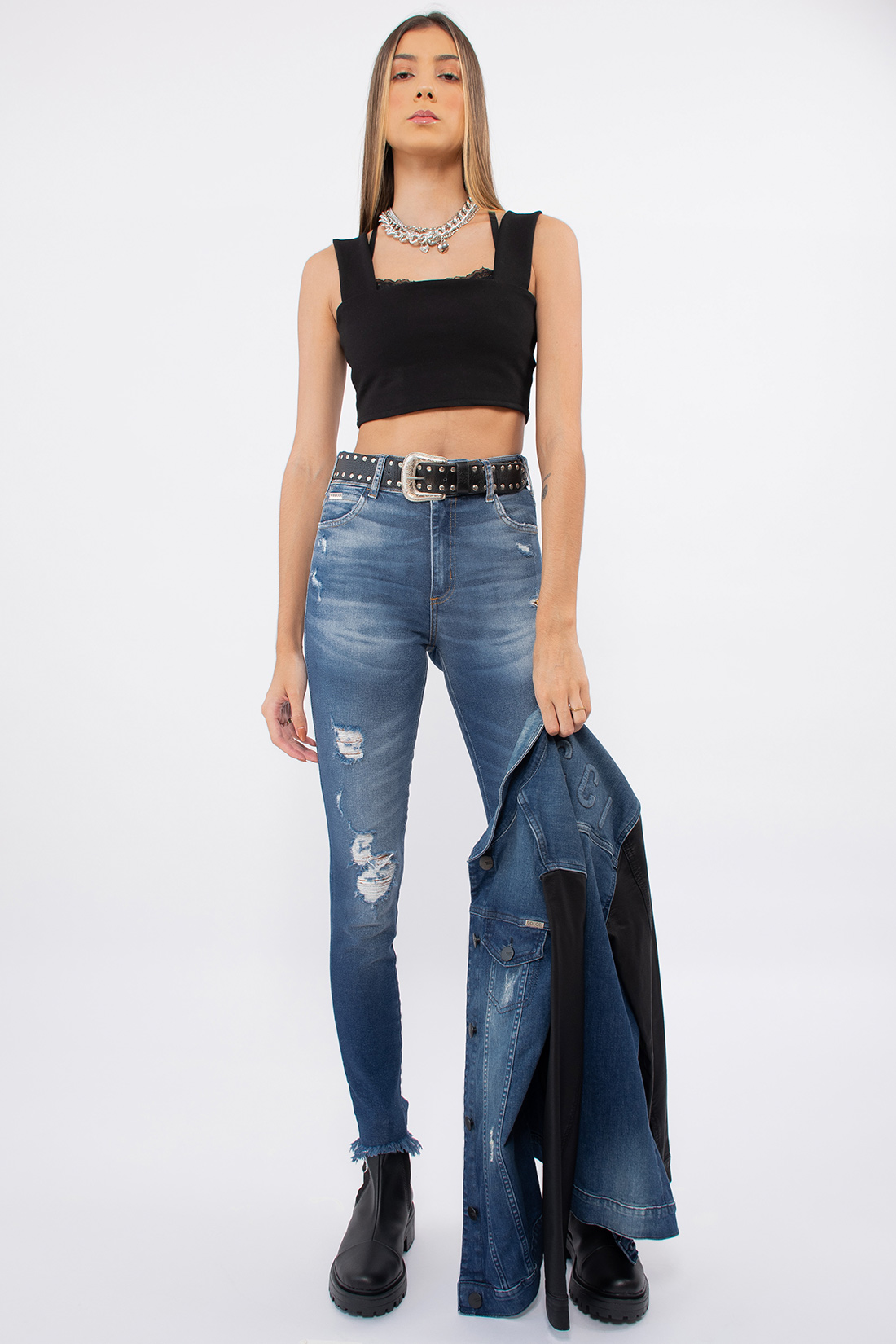 Calca Jeans Colcci Bia Destroyed