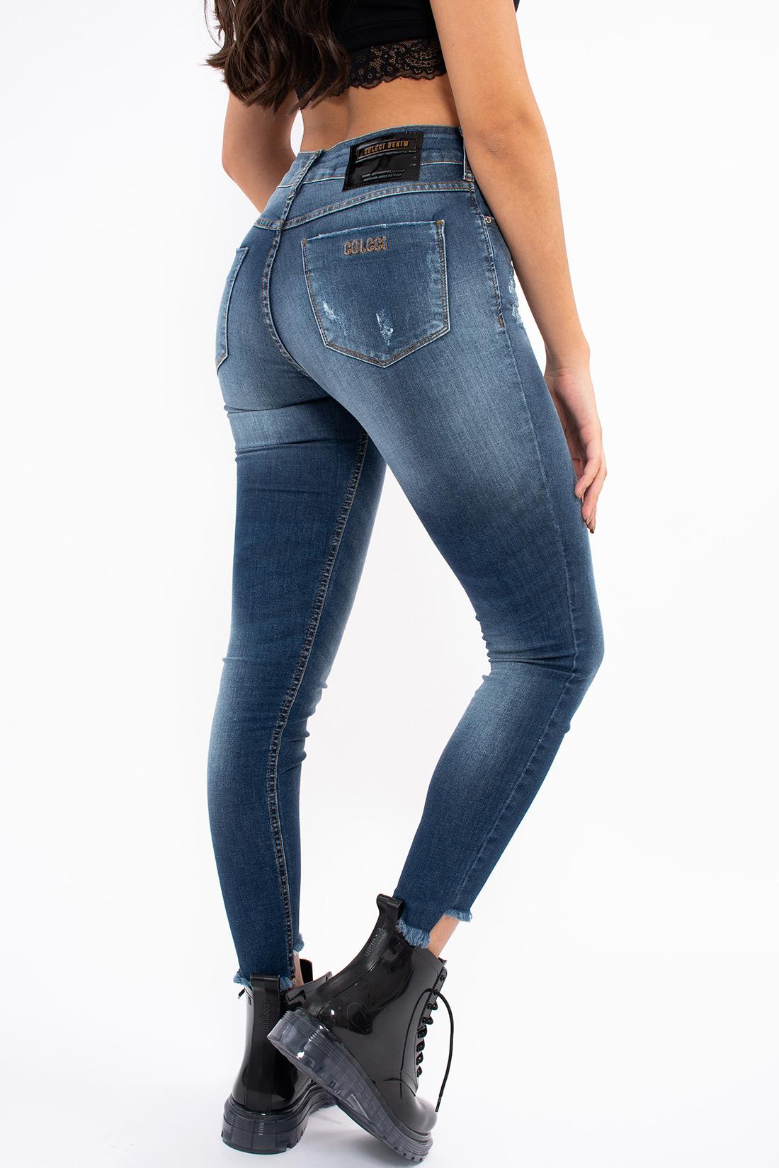Calca Jeans Colcci Bia Recorte Na Barra