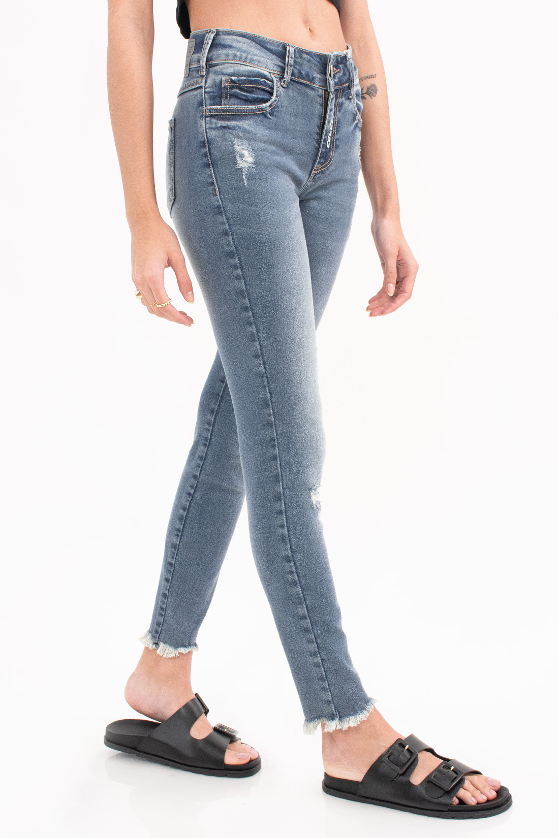 Calca Jeans Colcci Cory Barra Desfiada