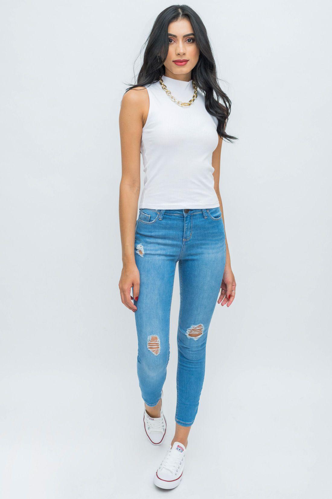 Calca Jeans Hering Destroyed