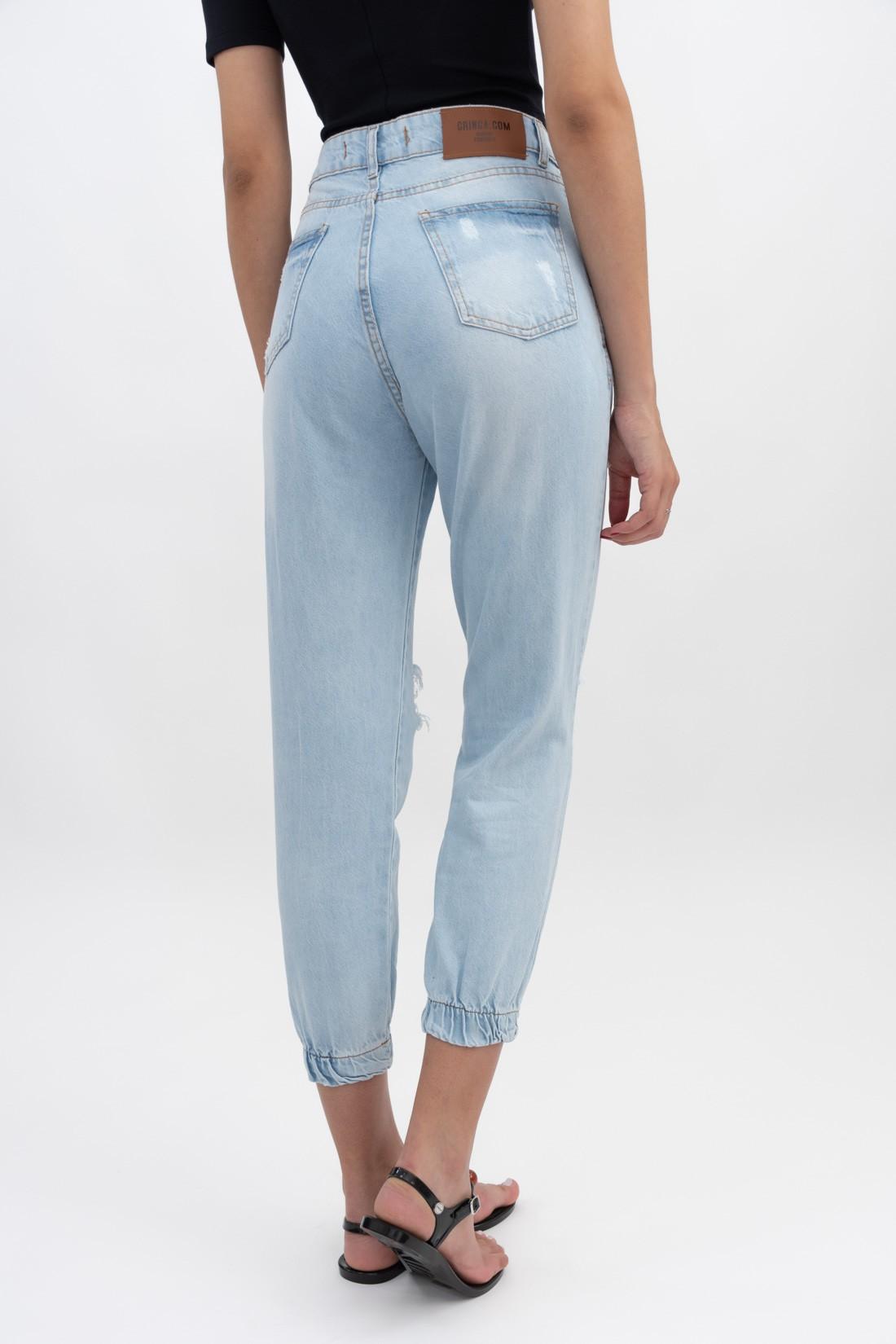 Calca Jeans Jogger Destroyed