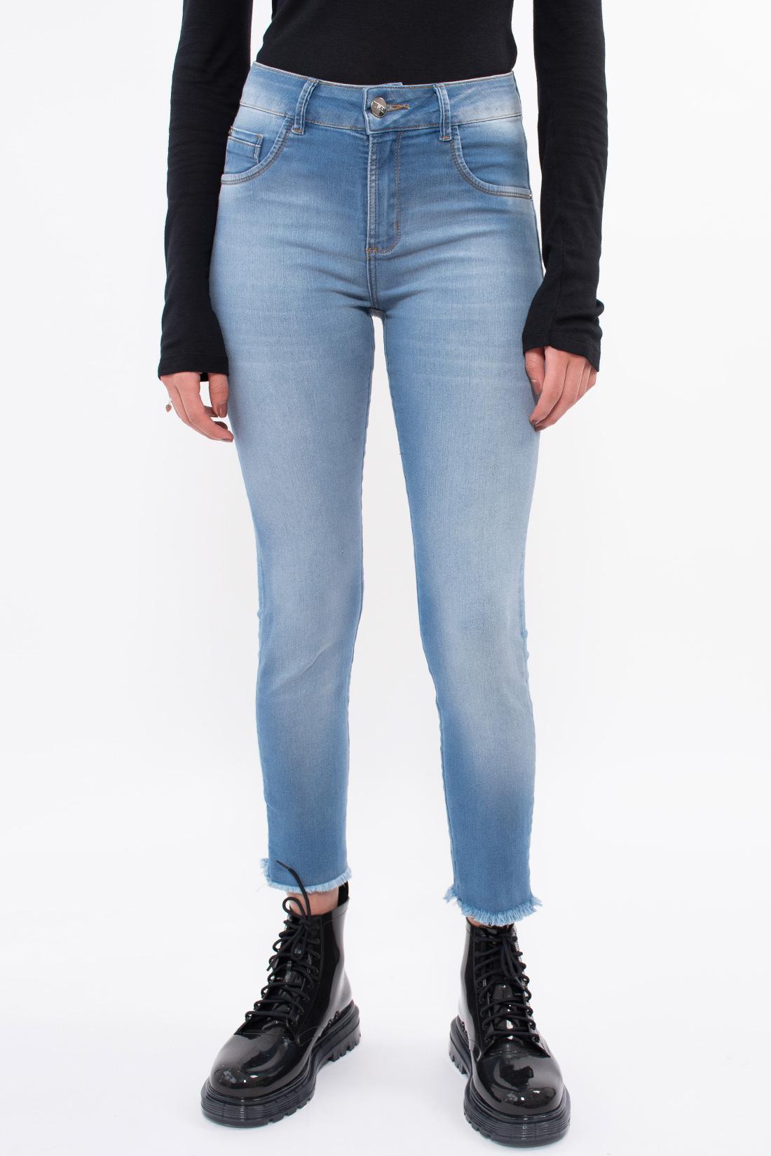 Calca Jeans Kacolako Cropped Barra Desfiada