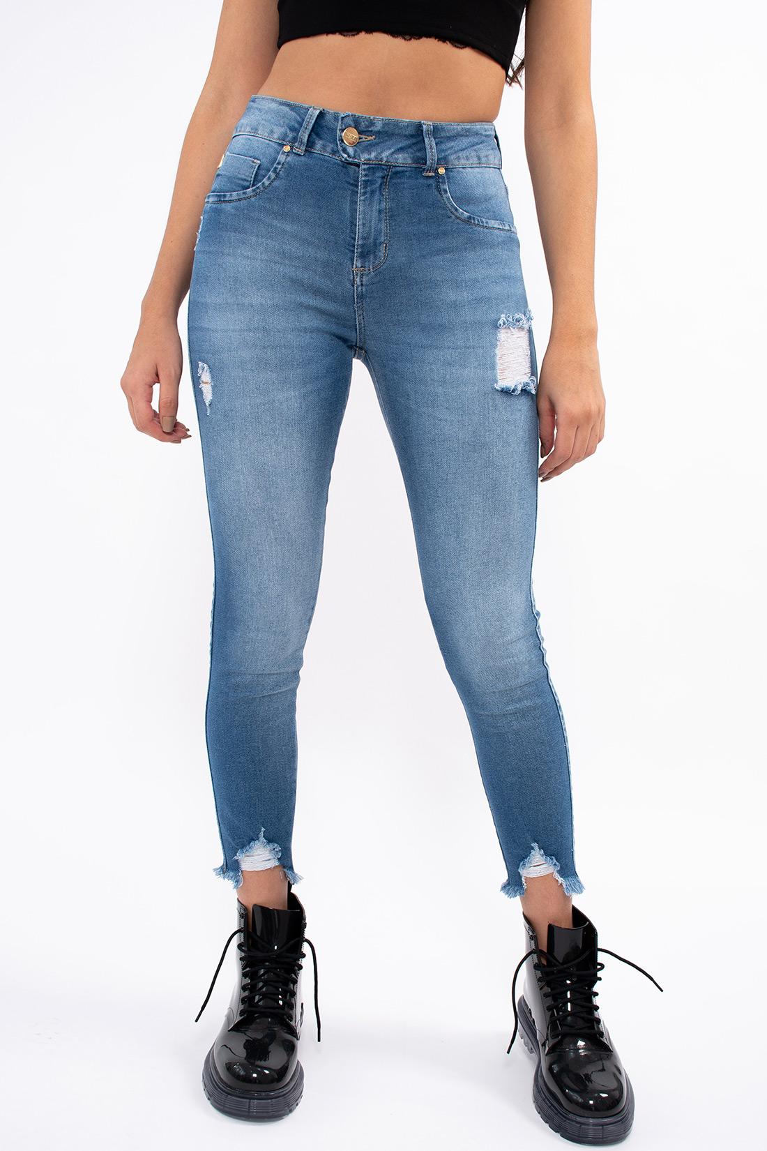 Calca Jeans Kacolako Cropped Destryed