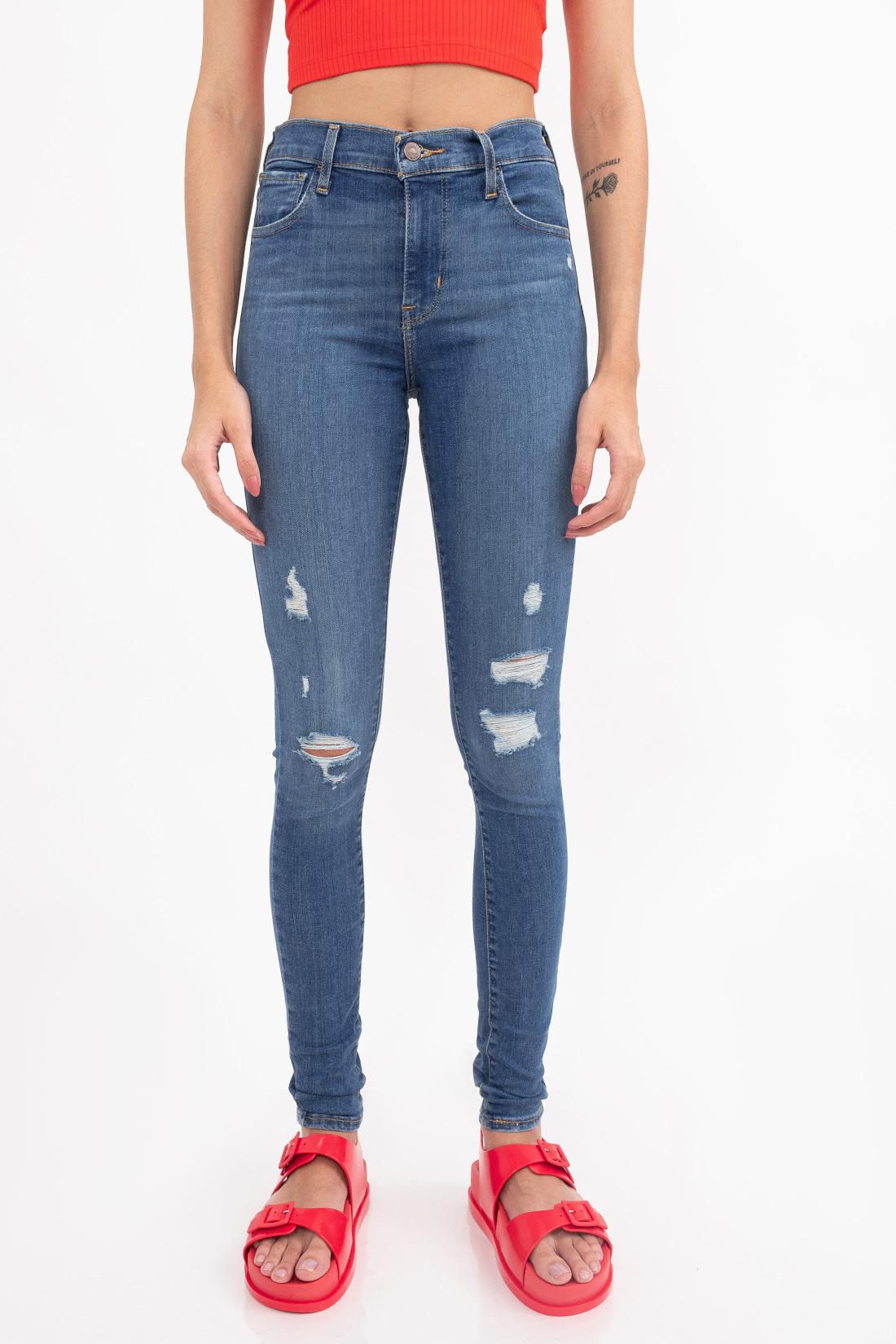 Calca Jeans Levis 720 High Rise Super Skinny Rasgo