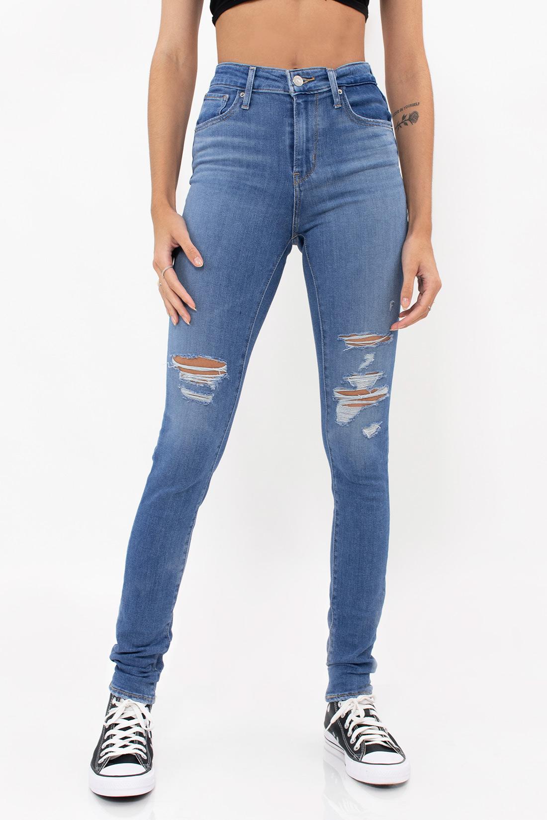 Calca Jeans Levis 721 High Rise Skinny Rasgos