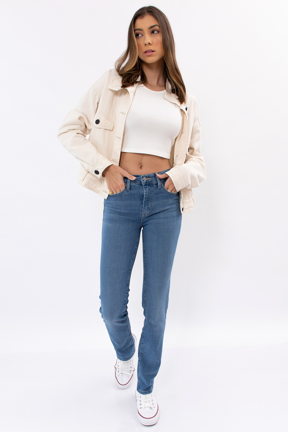 Calca Jeans Levis 724 High Rise Straight