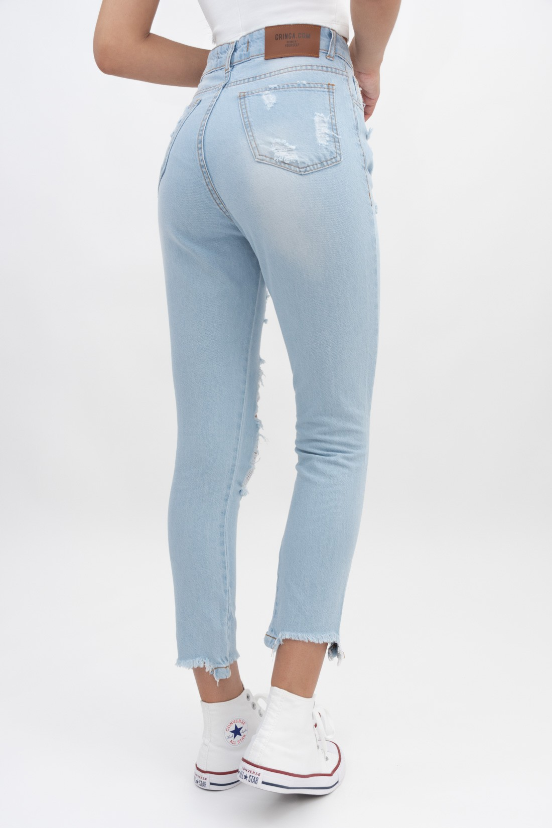 Calca Jeans Mom Destroyed