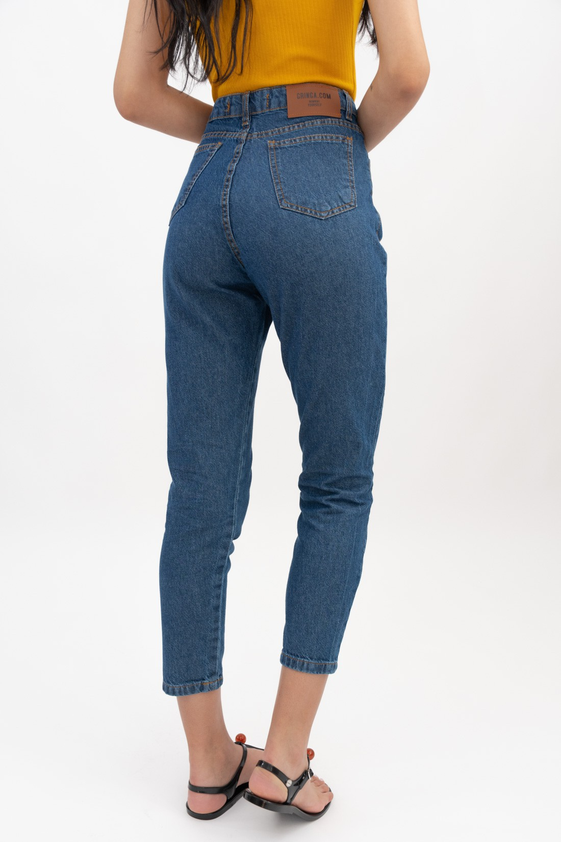 Calca Jeans Mom Fit