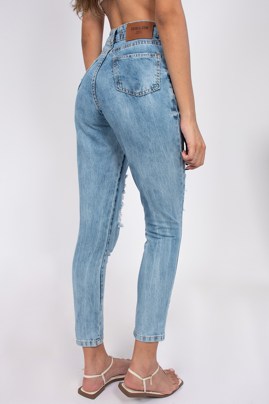 Calca Jeans Mom Fit New Vintage Sky