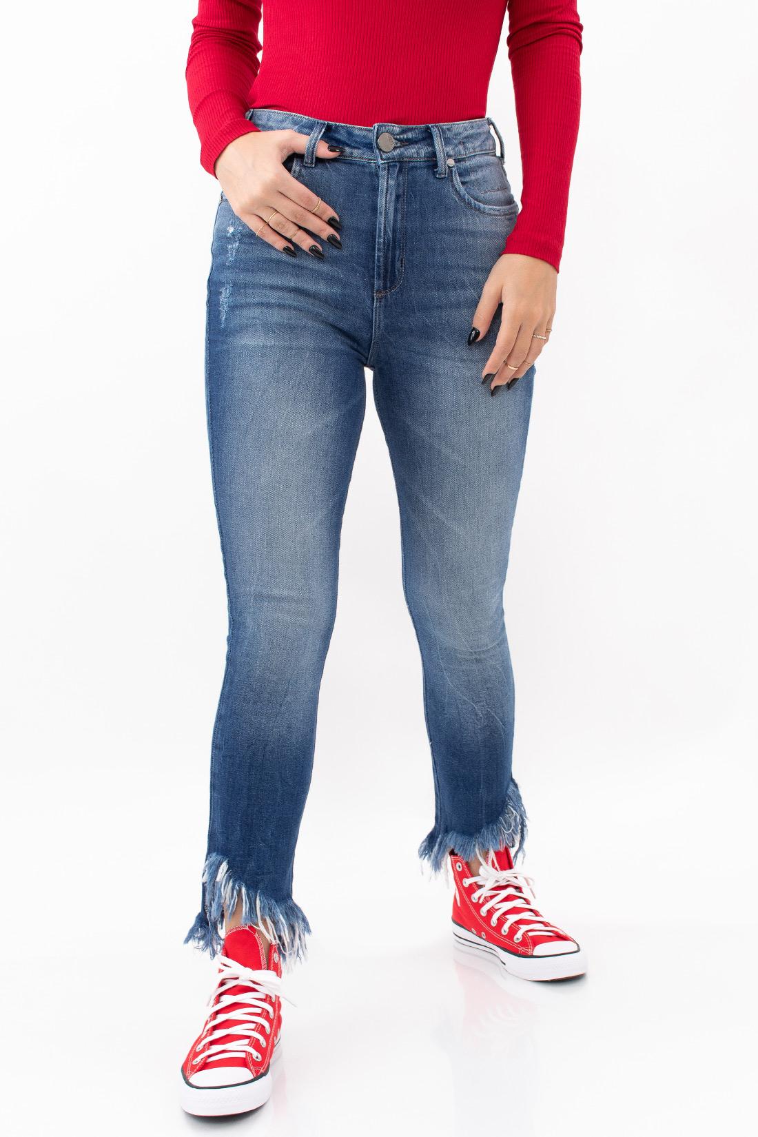 Calca Jeans Open Carol Barra Destroyed