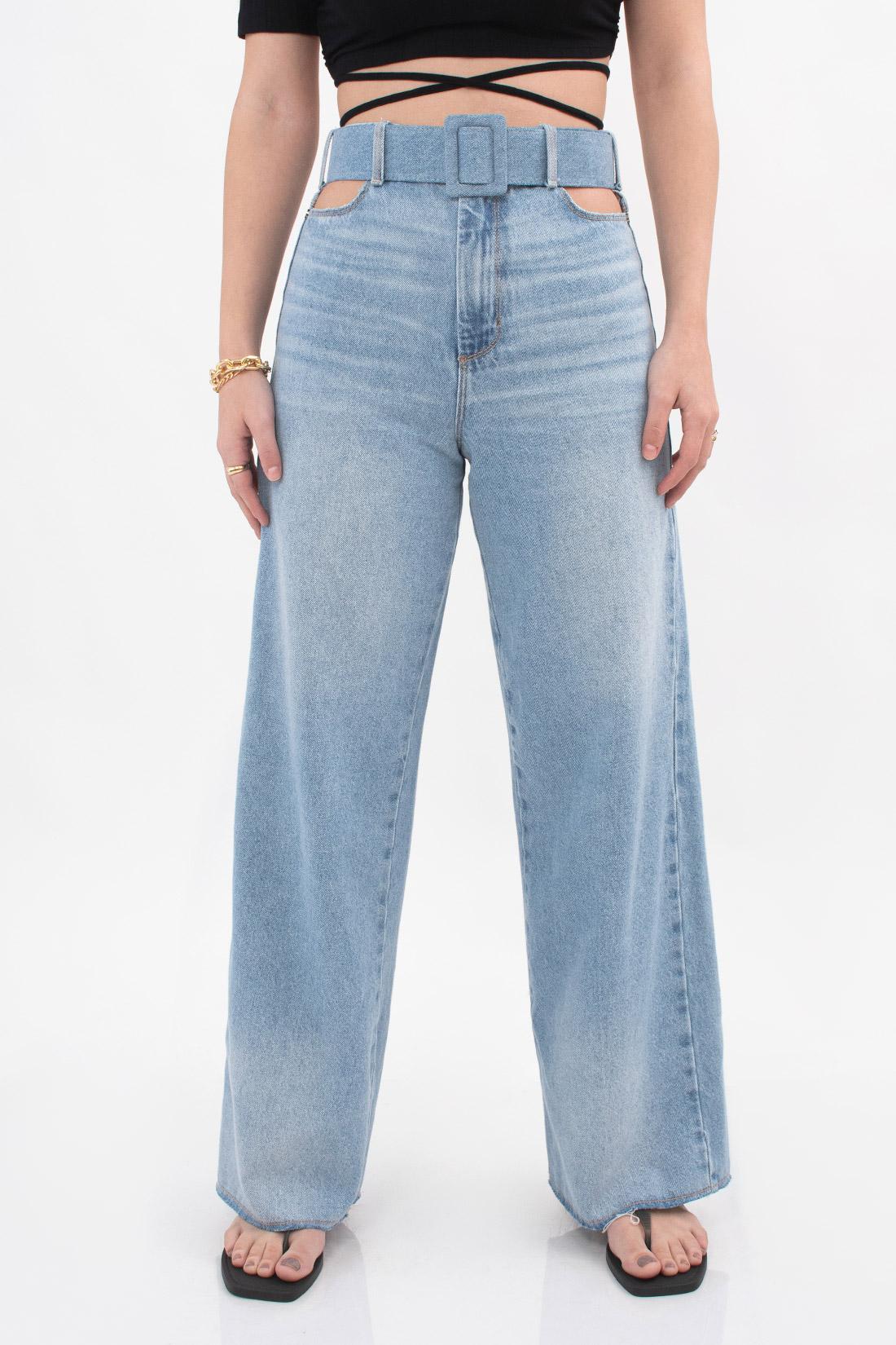 Calca Jeans Open Wide Leg Recorte