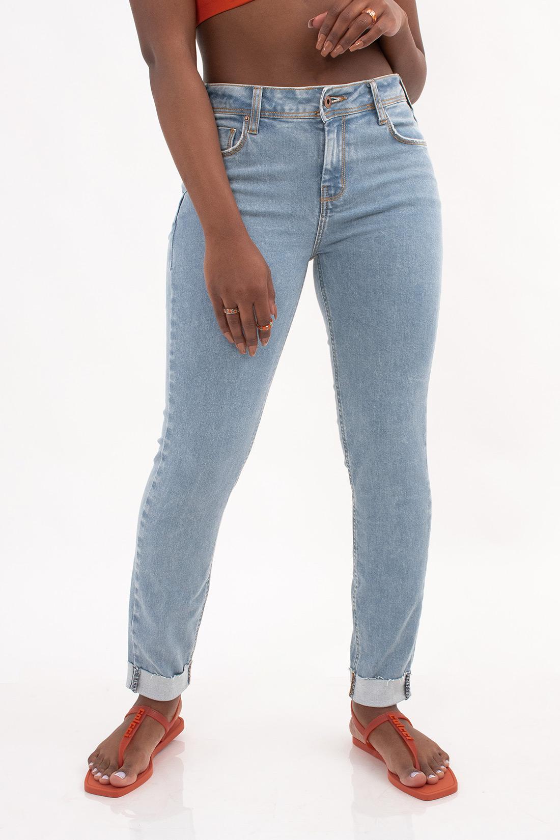Calca Jeans Sommer Bruna Com Dobra