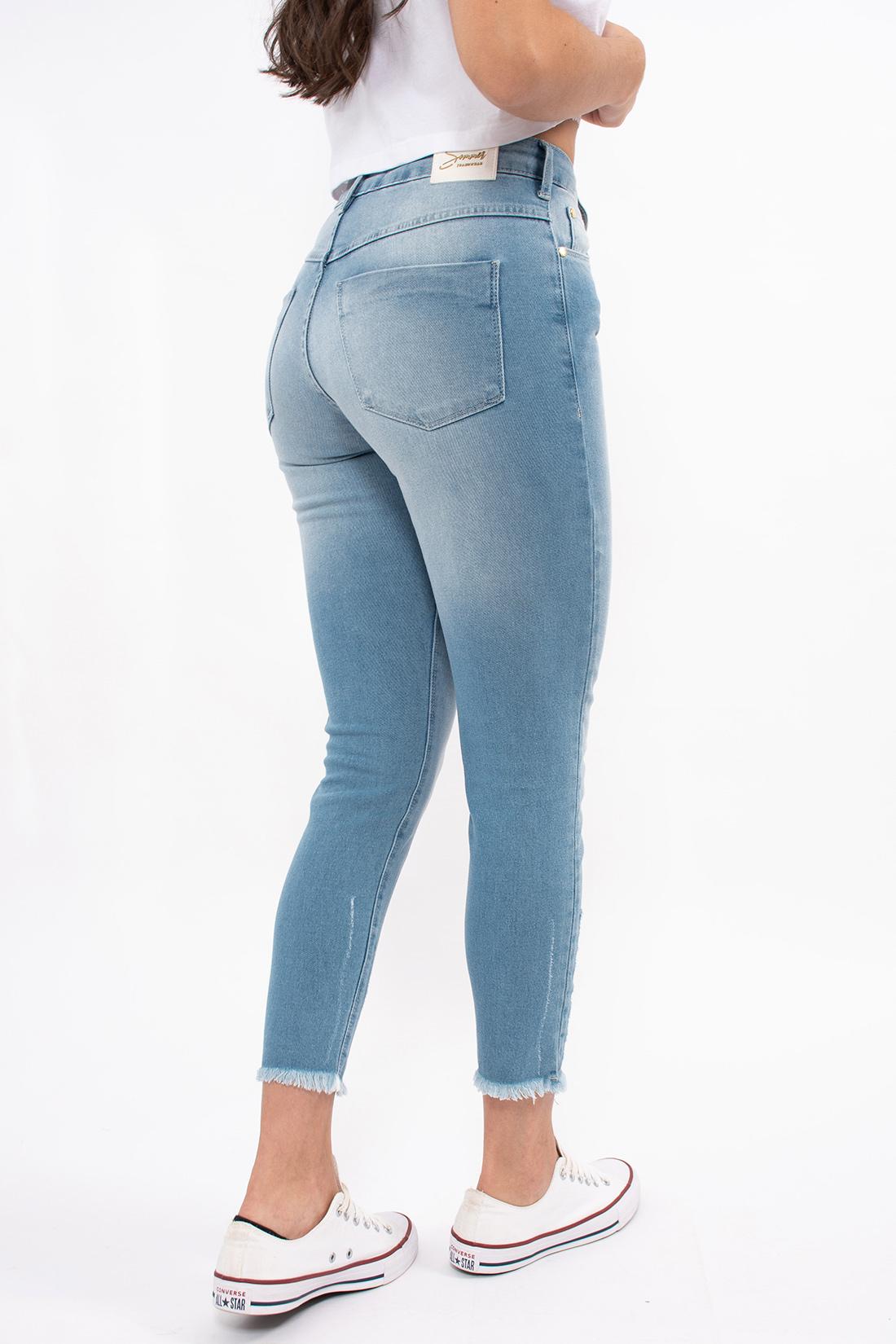 Calca Jeans Sommer Lia Cropped Barra Desfiada