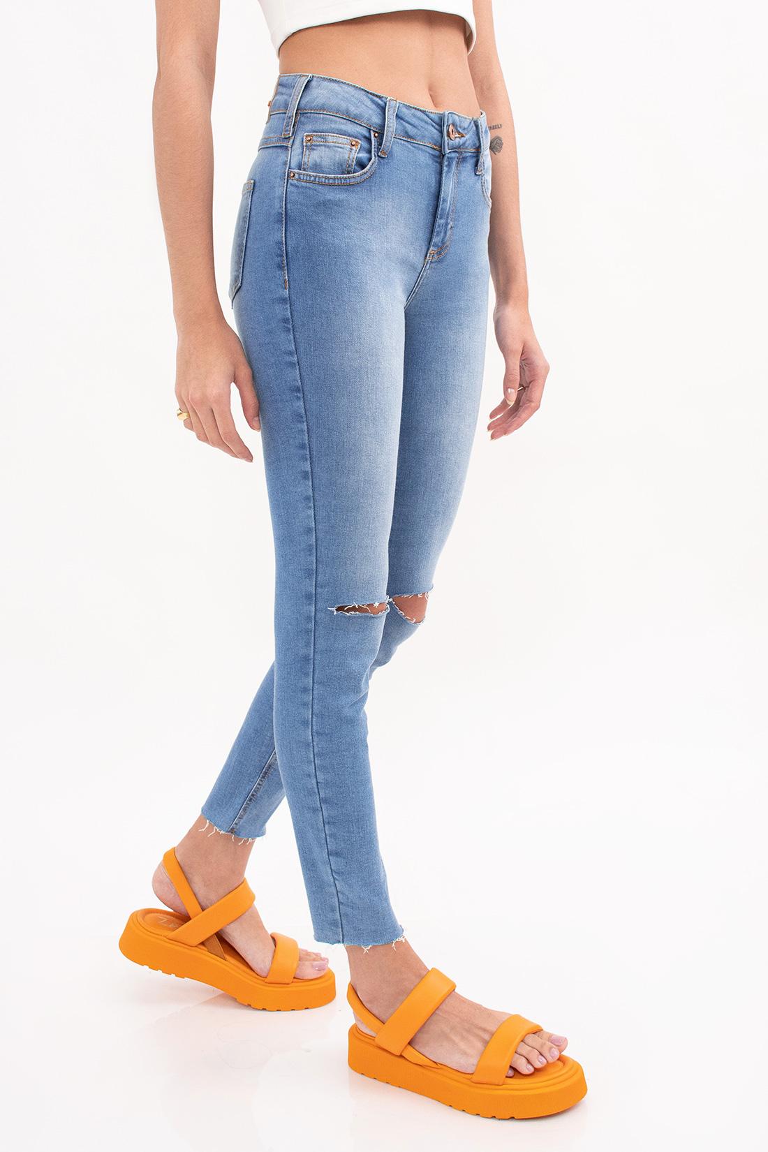 Calca Jeans Sommer Lia Cropped Corte Joelho