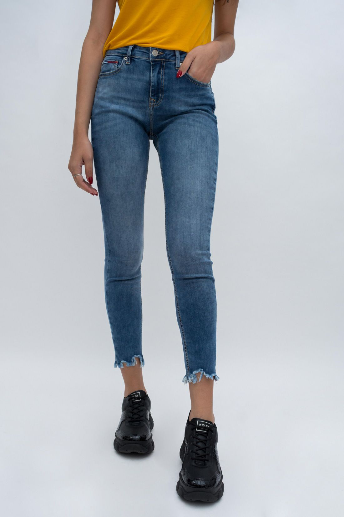 Calca Jeans Tommy Hilfiger Barra Desfiada