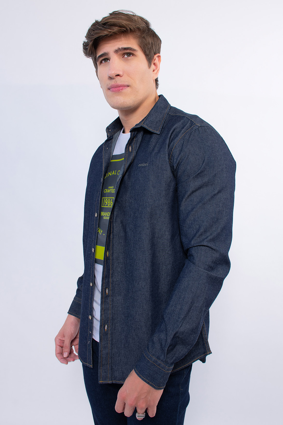 Camisa Jeans Colcci Classic