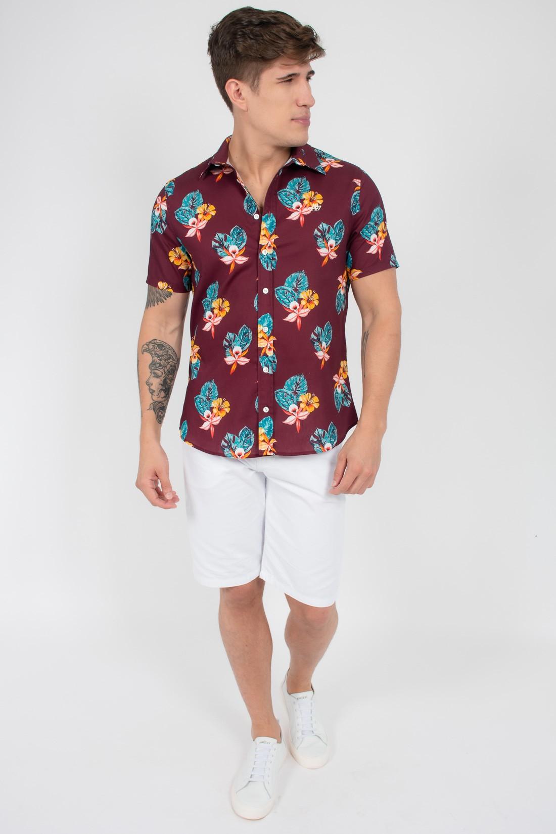 Camisa Mc Aeropostale Floral