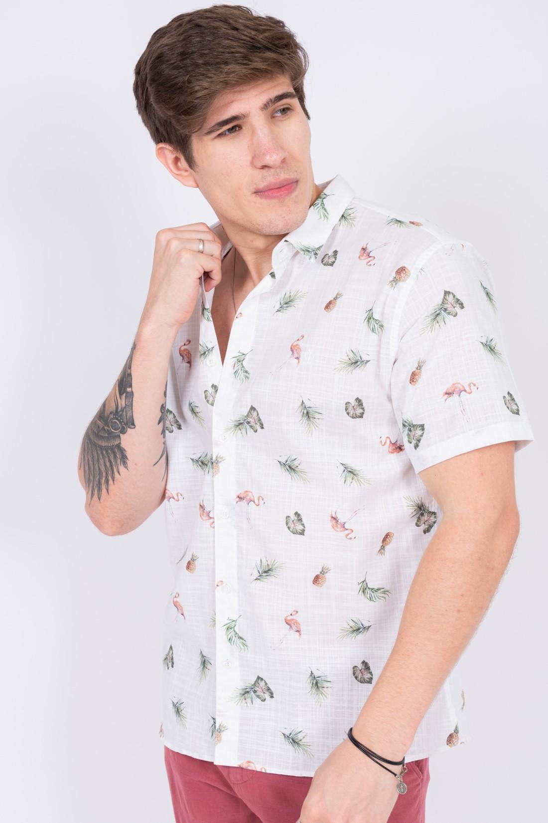 Camisa Mc King&Joe Flamingo Abacaxi
