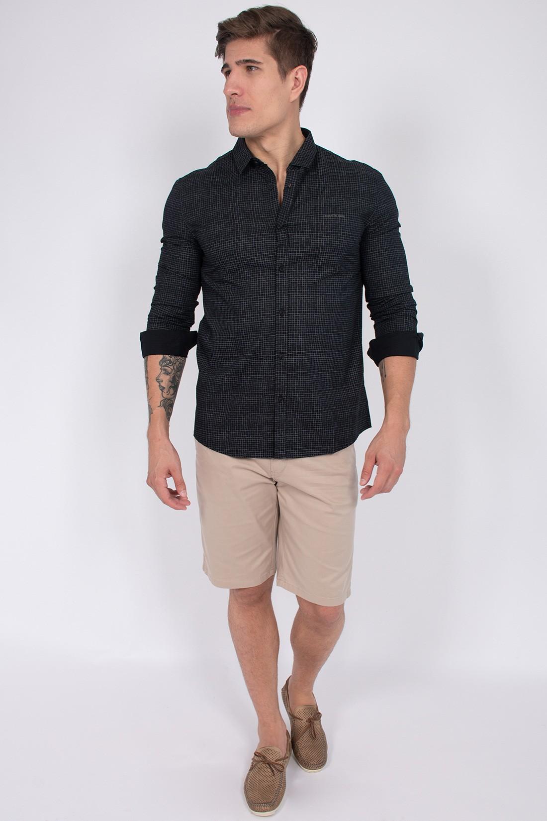 Camisa Ml Calvin Klein Quadriculada