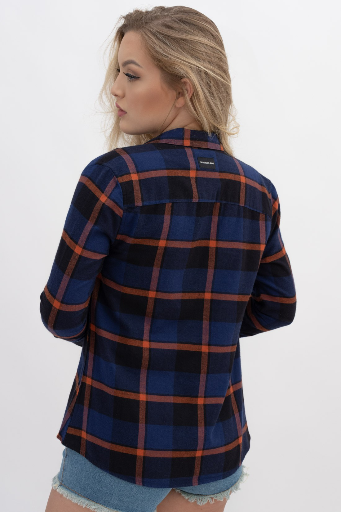 Camisa Ml Calvin Klein Xadrez