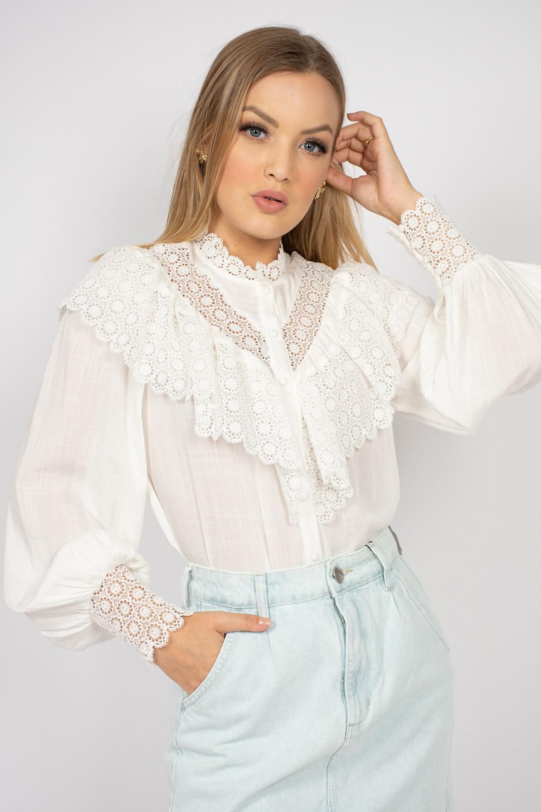 Camisa Ml Romantic Puca