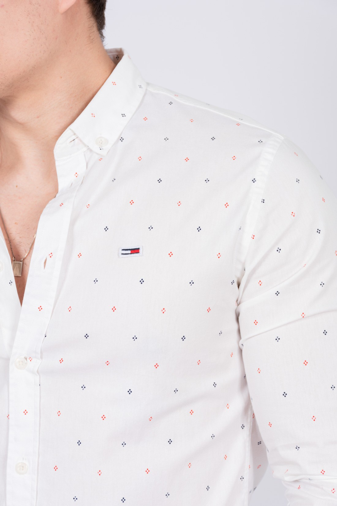 Camisa Ml Tommy Hilfiger Mini Estampa