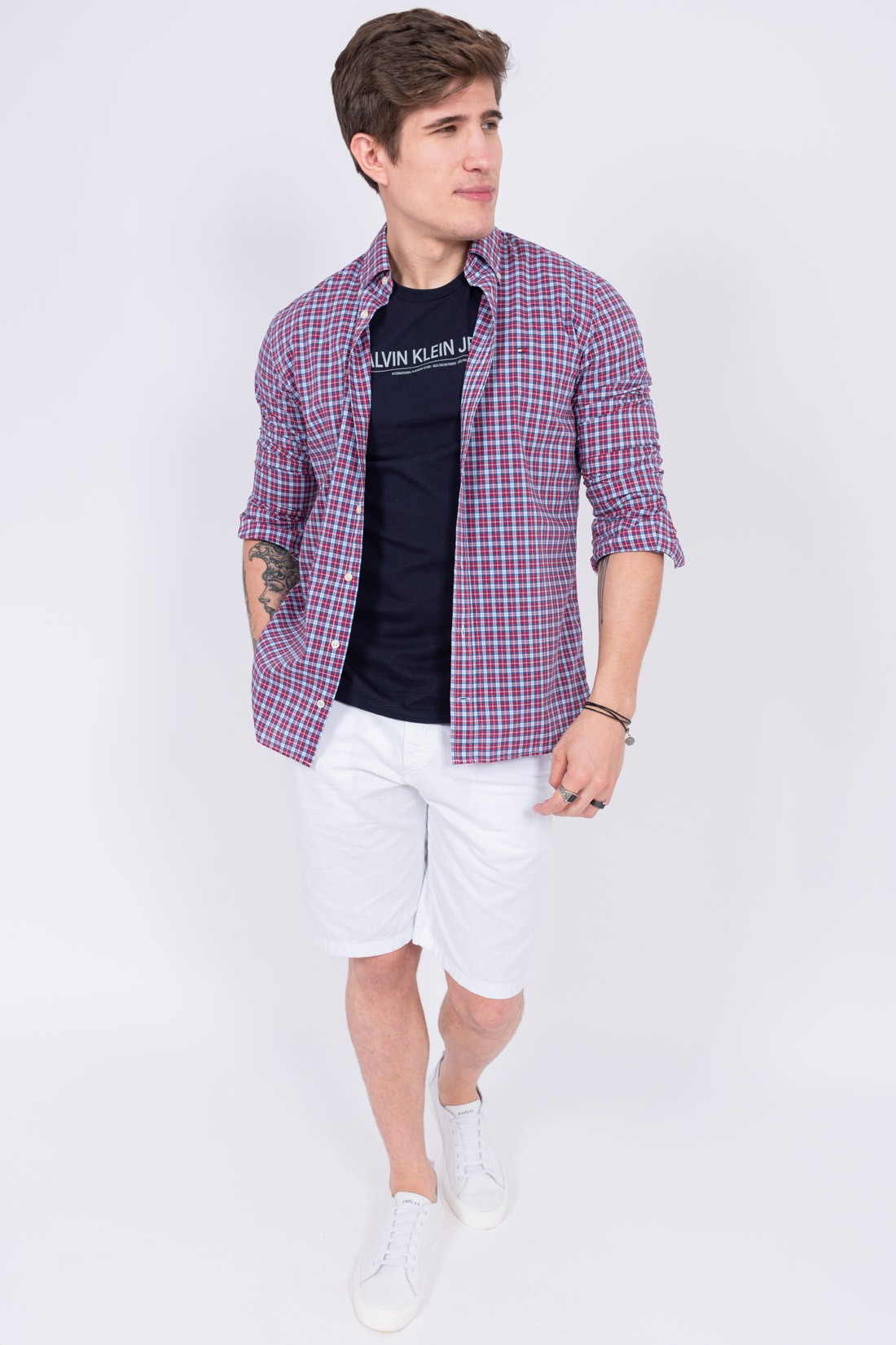 Camisa Ml Tommy Hilfiger Xadrez