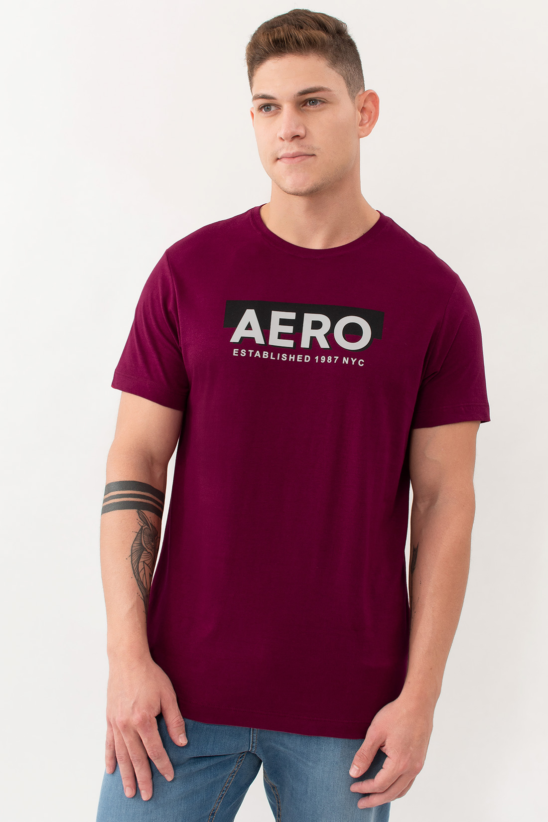 Camiseta Mc Aeropostale Established
