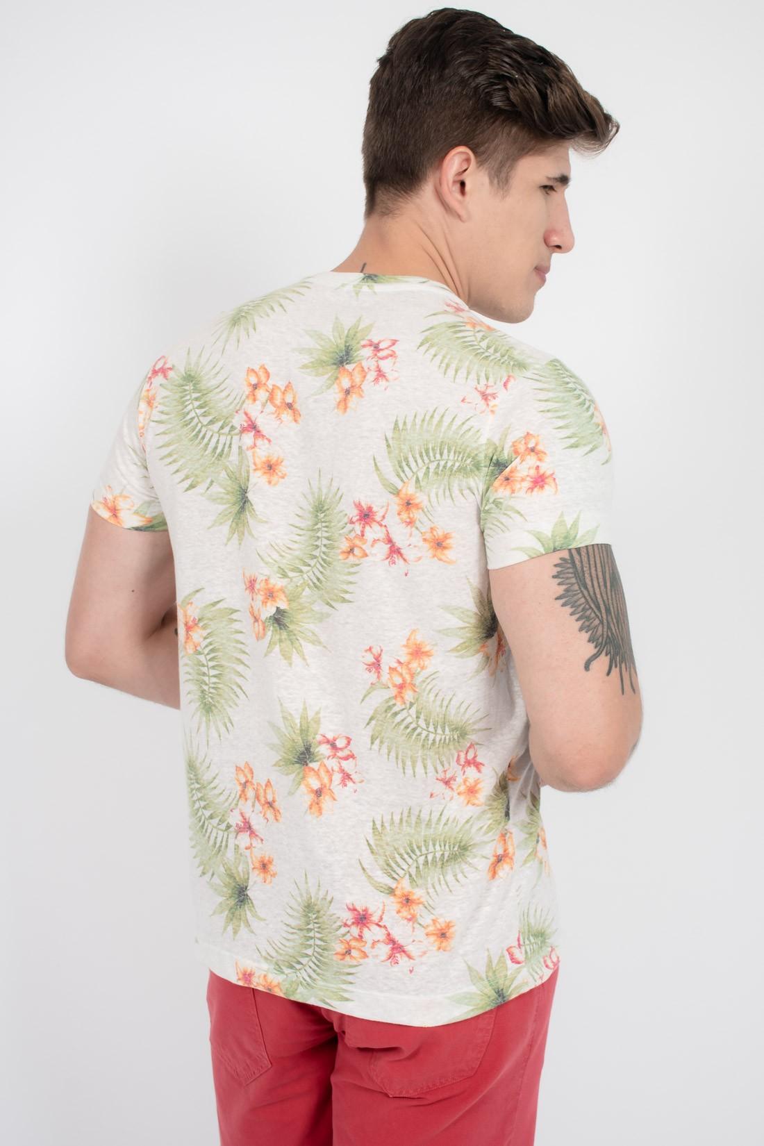 Camiseta Mc Aeropostale Floral