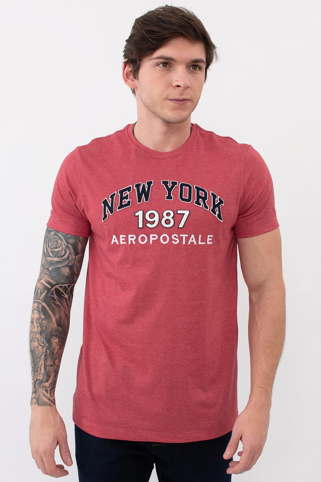 Camiseta Mc Aeropostale New York Aplique