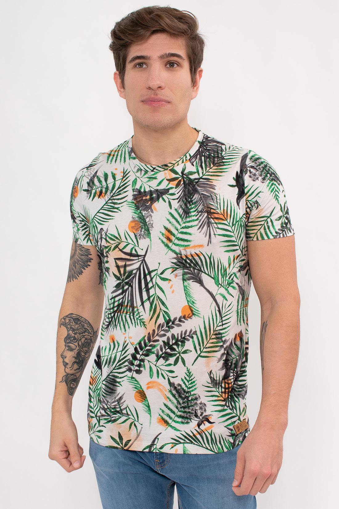 Camiseta Mc Colcci Estampada Folhagem