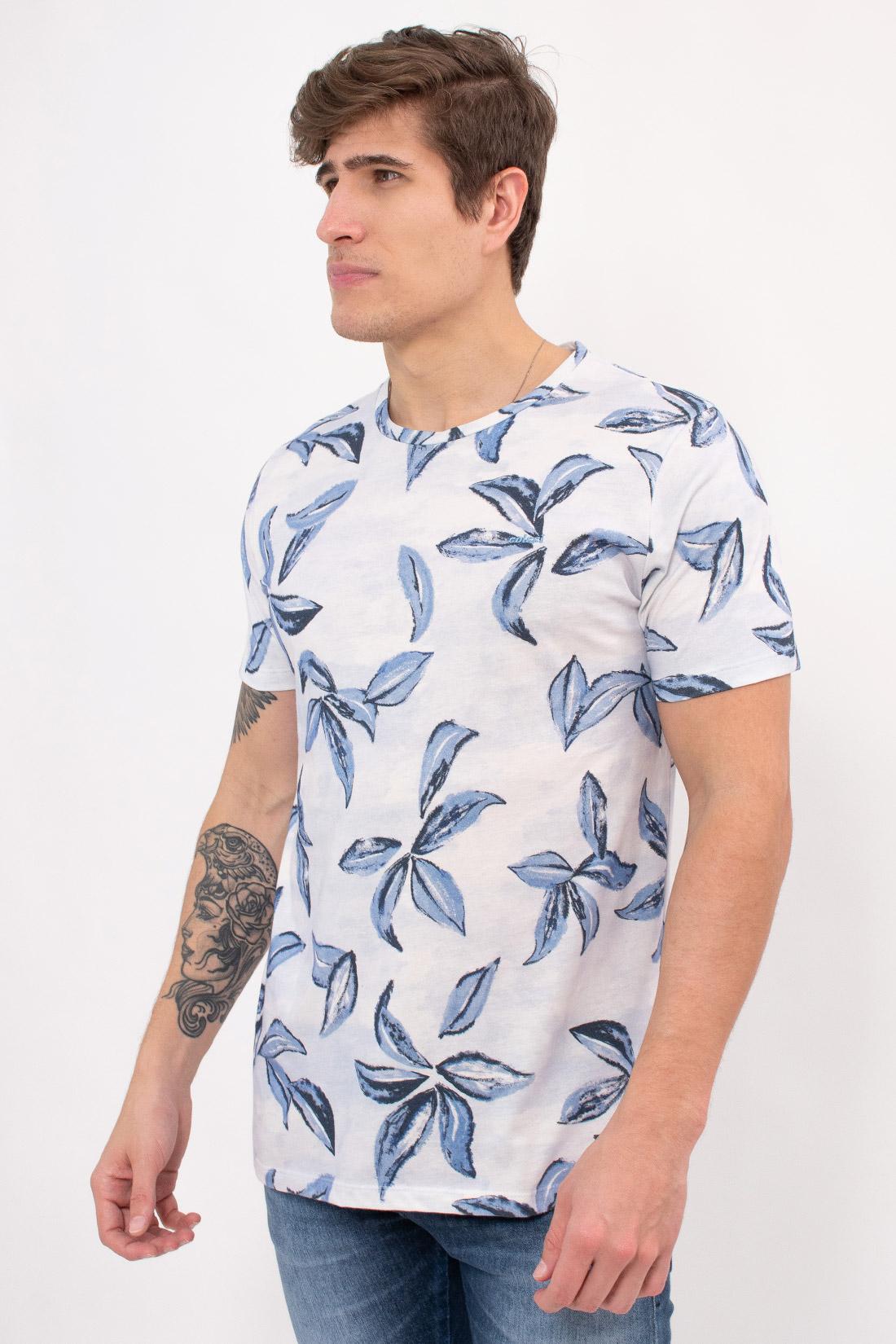 Camiseta Mc Colcci Folhas Azuis