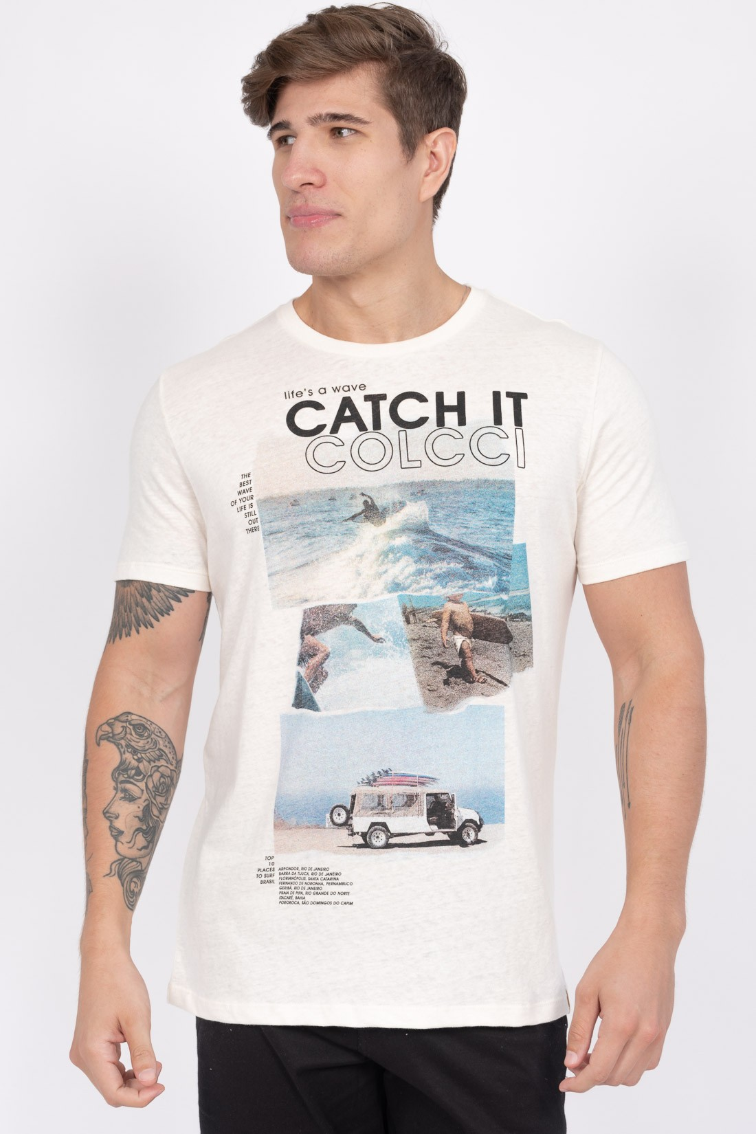 Camiseta Mc Colcci Lifes A Wave Catch It