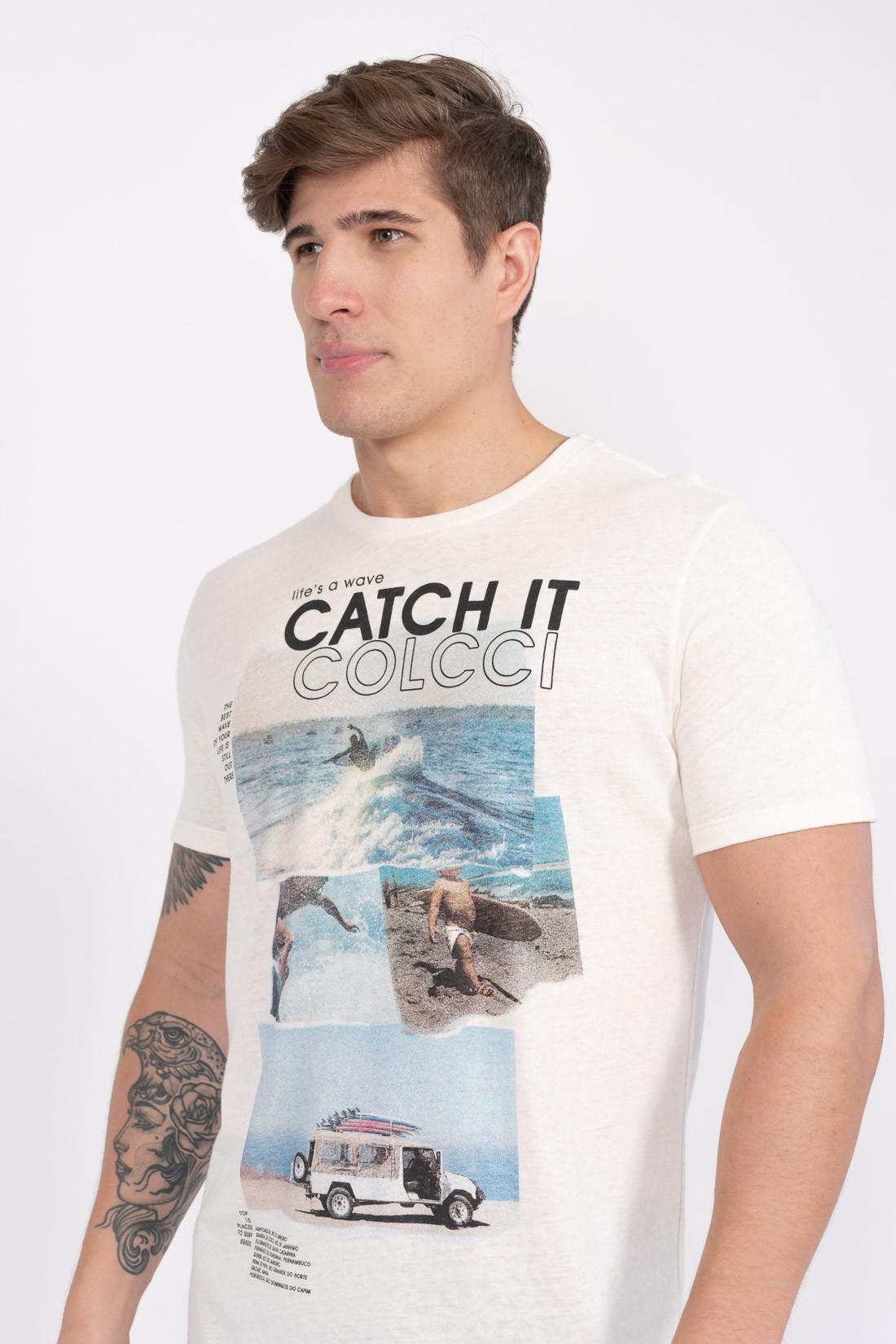 Camiseta Mc Colcci Lifes A Wave Catch It