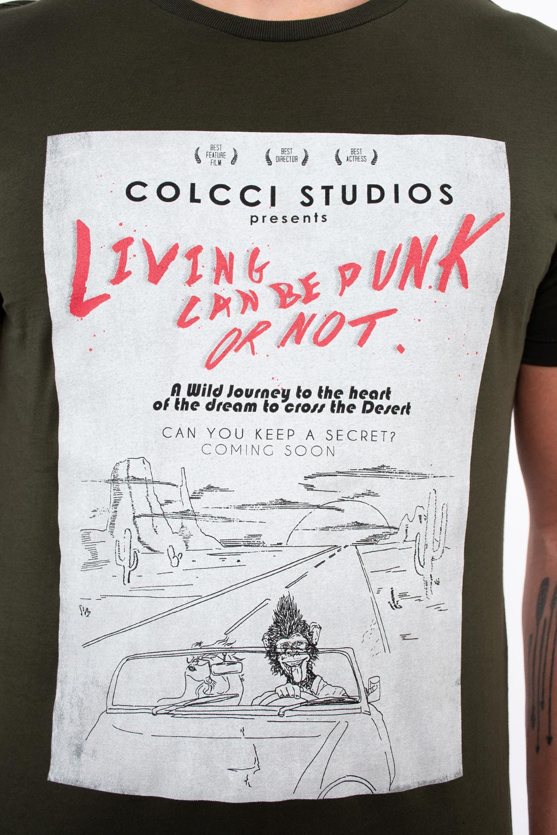 Camiseta Mc Colcci Living Can Be Punk Or Not