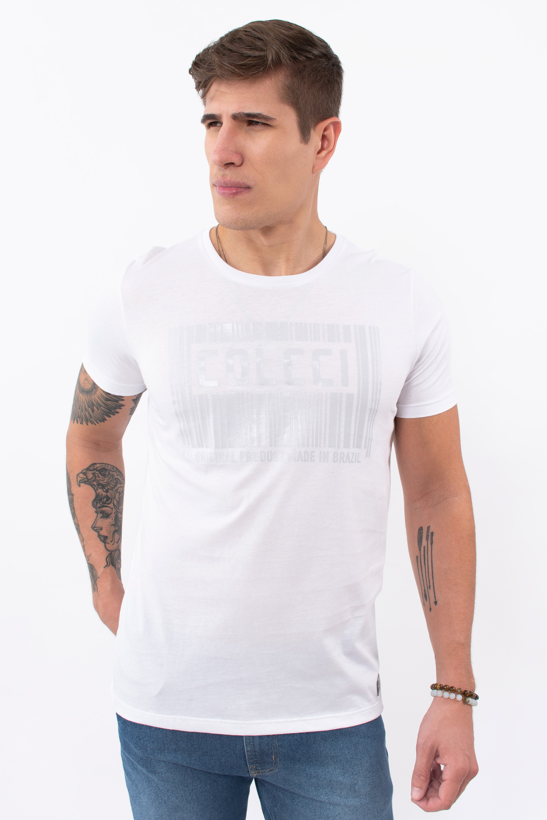 Camiseta Mc Colcci Logo Barras