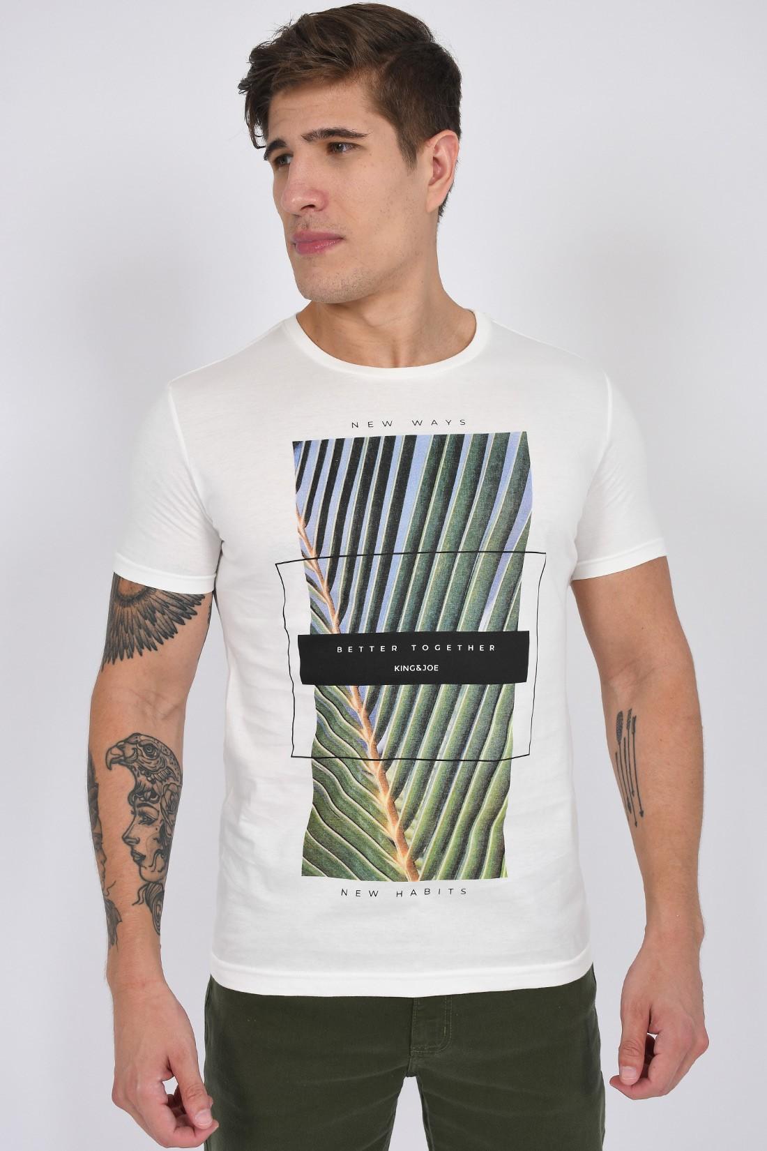 Camiseta Mc King&Joe Folha Palm Better Together