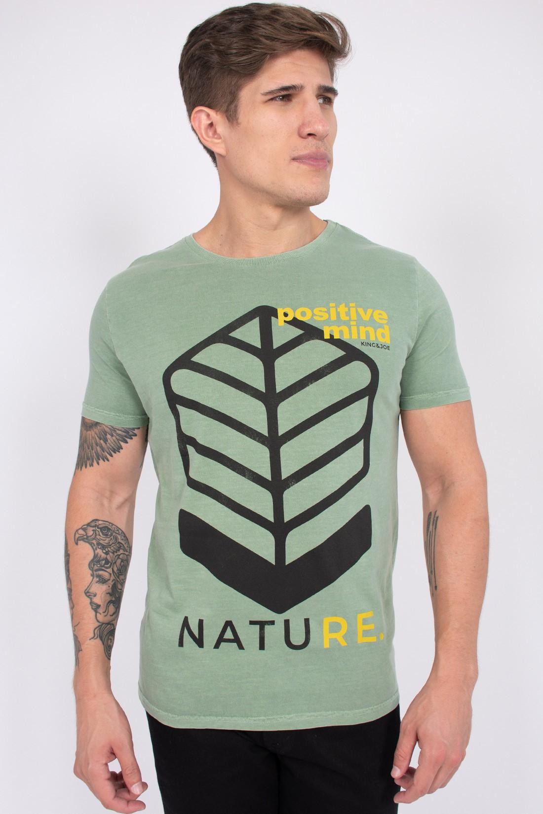Camiseta Mc King&Joe Positive Mind Nature
