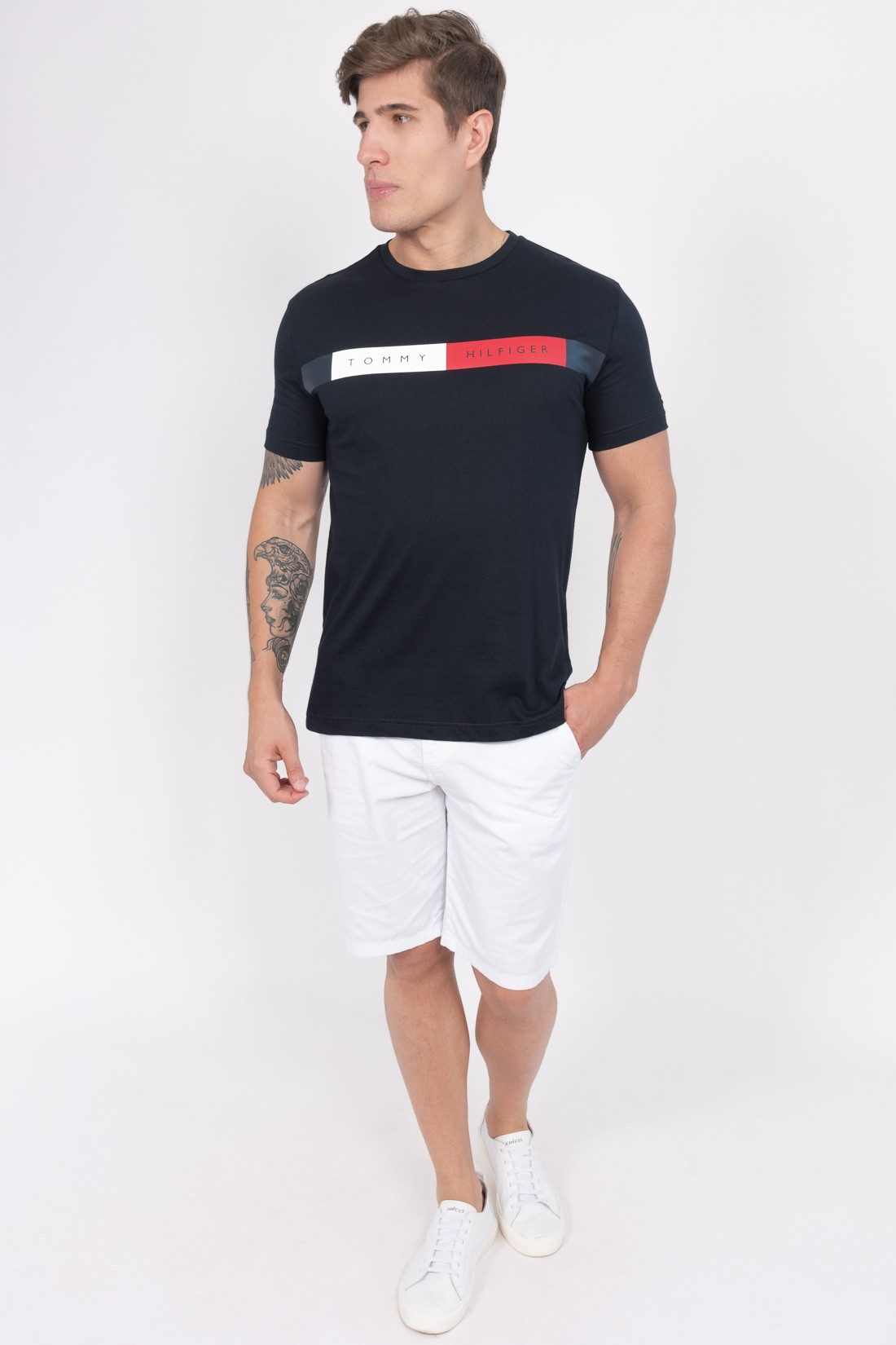 Camiseta Mc Tommy Hilfiger Block Tee